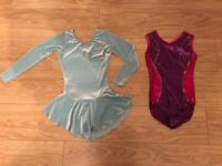 Girls leotard and skate dress. Size 8-9 years