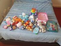 Girls soft toy backpack bundle