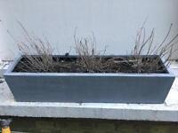 Zinc style garden planter