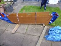 1 MAN FOLDING 8Ft. DINGHY 2 BATTERIES AND ELECTRIC MOTOR.