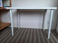 IKEA Desk White Linnmon Table 100x60cm + 4 Olov adjustable legs(great condition)