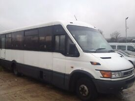 IVECO DAILY IRIS BUS 2.8 22 seater DPV recent new engine gearbox free roadtax coif tracking 195825km