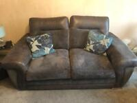 2 seater couch & 2 single seats