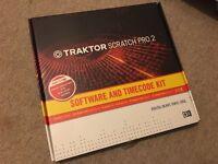 TRAKTOR SCRATCH PRO 2 SOFTWARE & TIMECODE KIT