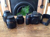 Nikon D610 DSLR Body + AF-S Nikkor 85mm 1.4G Prime Lens + AF-S Nikkor 35mm 1.8G Prime Lens + More