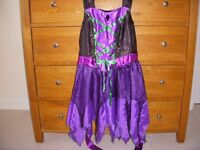 Witches dress & hat - Girls Dressing up set Chest 31-32in Age 7-8 yrs?