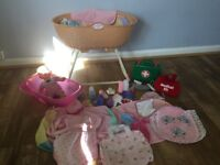Baby Annabell cot and doll accesories