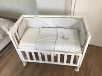 John Lewis Troll bedside crib, co sleeper, perfect for breastfeeding