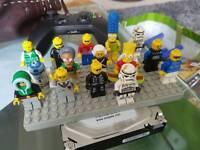 Large quantity of lego and mini figures