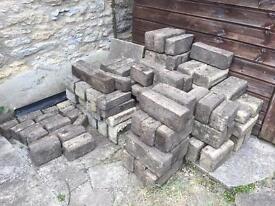 Assorted garden bricks