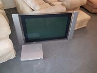 41 inch TV and Media Box
