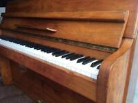 Mid size piano. Made in wales very good con. Needs a tune