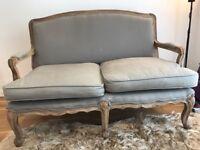 Shabby chic French style sofa