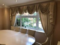 Silk Curtains with Tie Backs
