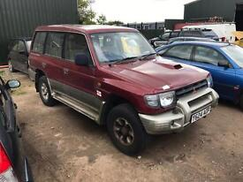 Mitsubishi shogun 2.8 turbo diesel spares or repairs