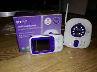 BT 1000 baby monitor & extra camera