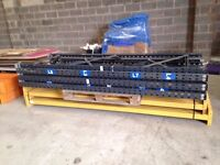 5 bay run of link pallet racking ( more available. storage , industrial shelving )