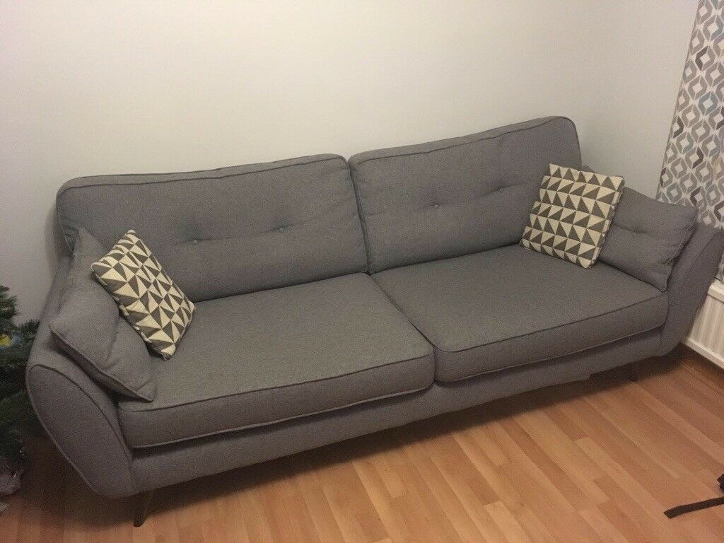 grey french connection sofa from dfs in craigavon. Black Bedroom Furniture Sets. Home Design Ideas