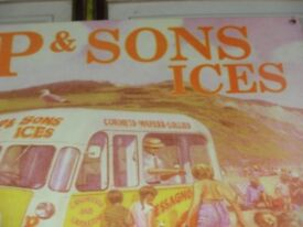 Olde Fashioned Ice Cream Van Advertising board