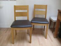 Pair of Solid Wood Kitchen / Dining Chairs - Made in Italy - Excellent condition [2]