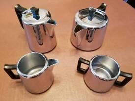 Chromium plated tea set