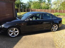 Audi A4 S Line 2.0 TDI / Black / Full AUDI S.History / 3 New Tyre's & Front & Back Pads / Discs