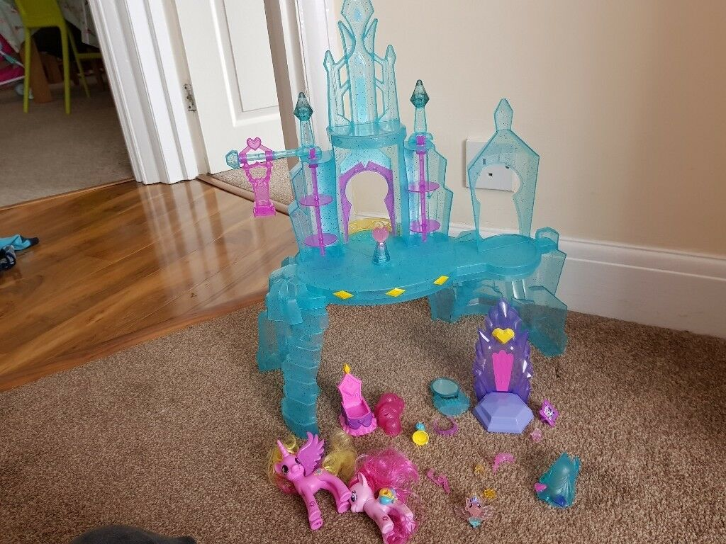 My Little Pony castle and two ponys