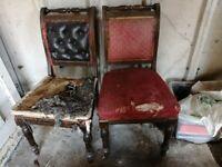 2x Antique chair