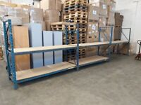 RACKING/SHELVING IN USED CONDITION IDEAL FOR GARAGE/WORKSHOP/WAREHOUSE ETC