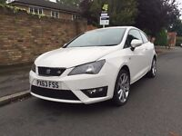 2013 SEAT IBIZA FR TSI 1.2 / WHITE SPORT CAT D 46,000 MILES ONLY / EXCELLENT CONDITION