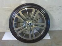 ALLOYS X 4 OF 20 INCH GENUINE RANGEROVER/DISCOVERY FULLY POWDERCOATED INA STUNNING GRAPHITE NICE JOB