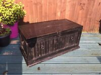 Wooden trunk well used but still sturdy. Great for a project. Good storage.