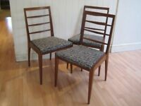 3 x Original Teak Vintage / Retro Dining Chairs by A H McIntosh from 1960s - Excellent condition