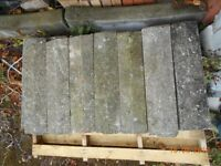Concrete coping stones 600mm x 150mm x 40mm approx. (14no. in total)