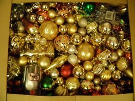 large box of mixed baubles
