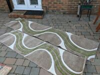 Dunelm Mirage Rug - Beige and Lime x 2