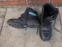 Mens Safety Boots - Glenwear (SIZE 8 UK, Black)