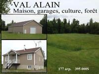 Val-Alain, Chaudière-Appalaches, ferme à vendre, 2 garages