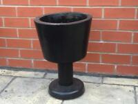 Black hand made planter