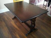 Dark refectory old charm style table