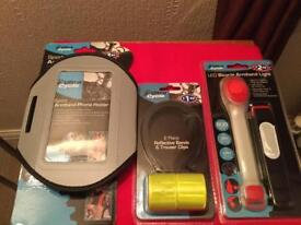 Brand new bicycle armband, clips and light - never used items