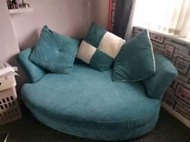 Large cuddler chair