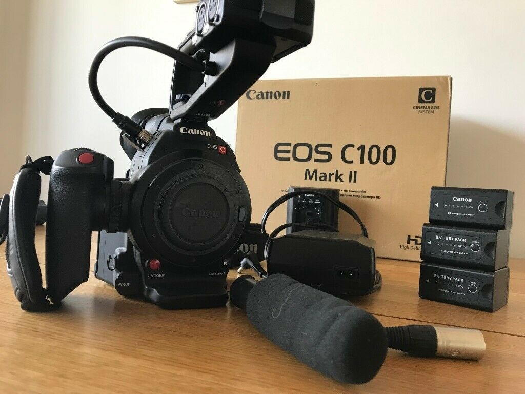 Canon c100 mark ii + Atomos Ninja recorder + 3 batteries + Sony microphone  | in London | Gumtree