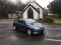 FOR SALE PEUGEOT 206cc SPORT HDI 1.6 DIESEL 2005 **£825** OVNO