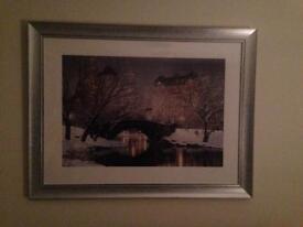 BNIB Rod Chase - Twilight in Central Park Framed Print