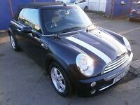 2005 MINI CONVERTIBLE 1.6 COOPER 2DOOR, FULL SERVICE HISTORY, HPI CLEAR ,VERY CLEAN, DRIVES LIKE NEW