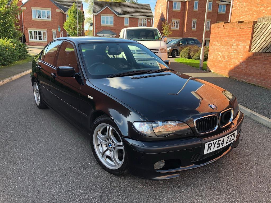 2005 BMW 3 SERIES 318d M SPORT AUTO BLACK 4 DOOR SALOON GOOD RUNNER NOT 320d 330d MAY PX