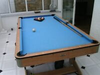 Pool Table - folds upright for easy storage