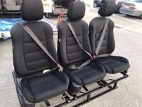 Van Rear Triple Seats Bench Adjustable Seat Belts Vivaro Sprinter Transit Camper