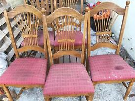 FREE 5 Dining Chairs for restoration Project
